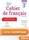 Cahier numérique de français cycle 4 / 3e - Licence élève - Ed. 2018