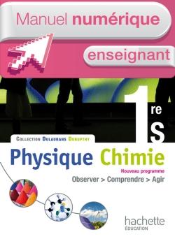 Manuel numérique Physique-Chimie 1re S - Licence enseignant - Edition 2011