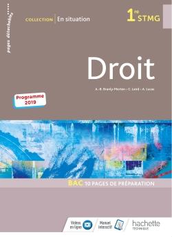 En situation Droit 1re STMG - Livre élève - Éd. 2019