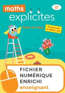 Maths Explicites CP - Fichier numérique enrichi enseignant - Edition 2019