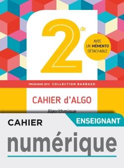 Cahier numérique enseignant - Barbazo algo 2nde - Ed. 2019