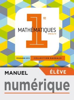 Manuel numérique Barbazo Maths 1ère - Licence élève - Ed. 2019