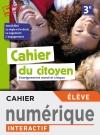 Version numérique élève Cahier du citoyen 3e - éd. 2019