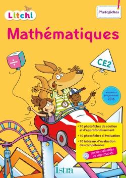 Litchi Mathématiques CE2 - Photofiches + CD - Ed. 2017