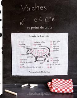 Vaches au point de croix